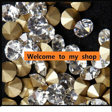1440pcs white clear glass Crystal Multiple facets point back sharp Rhinestones