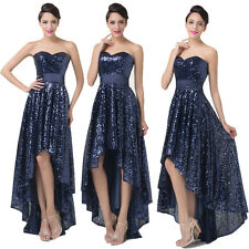 2014 New Sequins Long High-Low Bridesmaid Homecoming Cocktail Evening Prom Dress