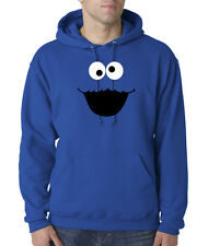 Clearance New Cookie Monster Face Cartoon 50/50 Pullover Hoodie S Royal