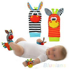 2X  Pretty Infant Baby Kids Foot Sock Rattles Finder Glove Toys Developmental