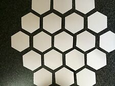 50 HEXAGON PATCHWORK QUILTING PAPER TEMPLATES ALL SIZES TO 3 INCH 90GSM WEIGHT