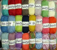 KING COLE BAMBOO COTTON DK KNITTING / CROCHET YARN AVAILABLE IN VARIOUS SHADES