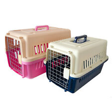 PLASTIC PET CARRIER FOR DOG PUPPY CAT KITTEN RABBIT TRANSPORT TRAVEL BOX CAGE