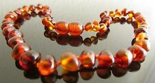 PURE 100% BALTIC AMBER BABY NECKLACE BRIGHT COGNAC COLOUR SAME DAY DISPATCH