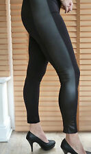 Fabulous leggings with faux leather insert - very stylish! great quality!