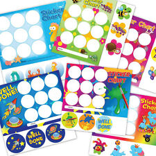Reward stickers and collecting cards, ideal for children, teachers, schools