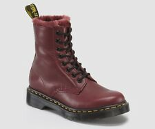 Dr. Martens Women's Serena Cherry Red Cartegena Leather 8-Eyelet Boots 13934601