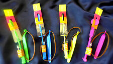 LED Flash Light Flying Sling Helicopter Rocket Arrow Parachute Flyer..so fun!!!