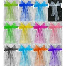 25 Organza Chair Cover Sashes Bow for Wedding Party Birthday Decor Multi-color