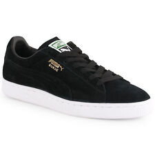 Puma Suede Classic Mens Suede Black Black Trainers New Shoes All Sizes