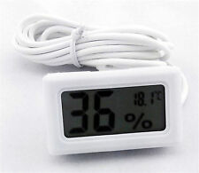 LCD Digital Thermometer 1.5M Long Hygrometer Probe for Poultry Reptile Incubator