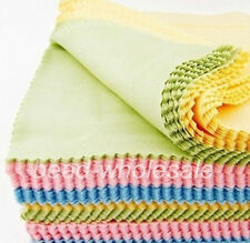 10Pc  Assorted Color Cleaning Cloth for Glasses Photo Frame Camera Lens Disk DVD