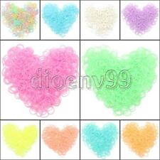 600pcs Craft Bracelet Jelly Candy Color Rubber Bands 24CS-Clip For RAINBOW LOOM