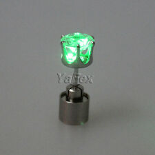 6 Color Cool LED Boys girls Party Earrings Glowing Flashing Ear Stud Funny Gifts