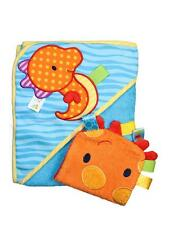 Boys Taggies Sea Horse Infant Baby Hooded Towel and Wash Mitt Set