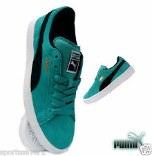 Puma Classic Junior Trainers Casual Suede Fluo Teal Sizes UK 3-5.5