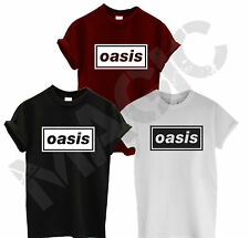 OASIS DEFINITLEY MAYBE BAND T SHIRT LIAM NOEL GALLAGHER BEADY TOP TEE SUMMER NEW