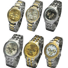 Stainless Steel Wristwatches High Grade Mens Quartz Analog Wrist Watch Watches