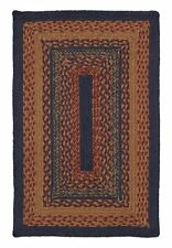 Arlington Jute Natural Fiber Braided Rugs Oval Rectangle up to 11' Navy Tan Red