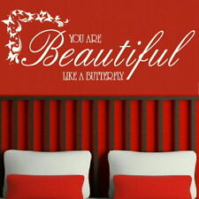 You Are Beautiful Inspirational Wall Quote Big Motivational Quote Deco niq22