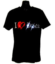 I LOVE DANCE CHILDRENS T SHIRT      CRYSTAL RHINESTONE DANCE DESIGN...any size