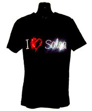 I LOVE SALSA CHILDRENS T SHIRT      CRYSTAL RHINESTONE DANCE DESIGN...any size