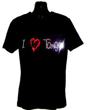 I LOVE TANGO CHILDRENS T SHIRT      CRYSTAL RHINESTONE DANCE DESIGN...any size