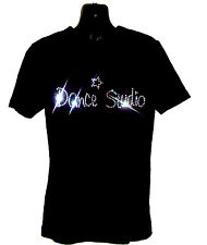 DANCE STUDIO CHILDRENS T SHIRT      CRYSTAL RHINESTONE DANCE DESIGN...any size