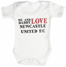 TRS - Me & Daddy Text Love Newcastle United Baby Bodysuit / Babygrow 100% Cotton