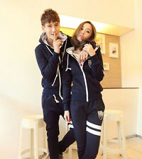 New fashion lovers solid color zipper long-sleeved hooded couple hoodie sweater