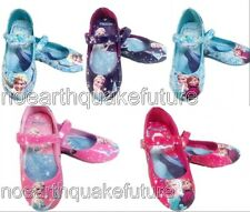 New Frozen Elsa Princess Cosplay Shoes Girls Kids Baby Shoes UK Size 6-13 1 2 3