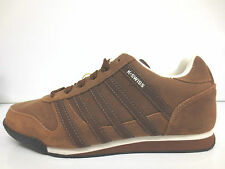 MENS K-SWISS SUEDE STURDY BROWN/ANTIQUE CASUAL LACE UP SHOE WHITBURN L