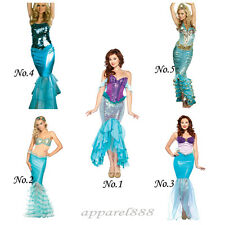 Sexy Mermaid Scale Fish Costume Adult Party Halloween Xmas Fancy Dress Cosplay