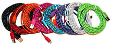 10FT 3M FABRIC Micro USB CHARGING Cable FOR Samsung Galaxy S4 S3 S2 HTC LG NO