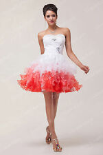 Cheap Masquerade Quinceanera Shorts Bridesmaid Prom Homecoming Party Gown Dress~