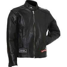 Mens Diamond Plate Genuine Buffalo Leather Motorcycle Jacket - NEW
