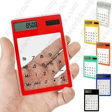 NWC 9030, New World Ultra Thin Compact Transparent Touch Screen Solar Calculator