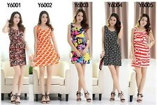 Summer 2014 Print Sleeveless Dress Vest Print Polyester Dress Factory Wholesale
