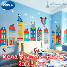 Giant Disney Mickey Mouse Wall Stickers Decor Decal Mural Kid Nursery Home Vinyl