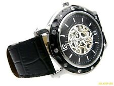 NEW DESIGNER CHARLES DELON LADYS BLACK WATCH QUARTZ ANALOG LEATHER CASUAL