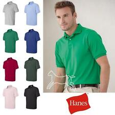 Hanes Men's Plain Blank Polo Blended Jersey Sport Shirt S-6XL Many Colors 054X