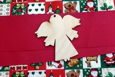 CHRISTMAS ANGEL WOODEN GIFT TAG,FESTIVE CRAFT TREE DECORATIONS CHALK BOARD BLANK