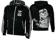 NEW %ADIDAS STAR WARS STORMTROOPER BLACK HOODED HOODIE JACKET M L XL