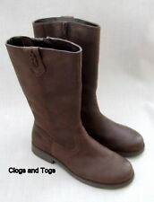 NEW CLARKS SHOWJUMPER GIRLS BROWN OILED LEATHER BOOTS