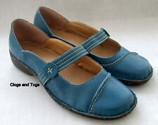 NEW CLARKS JUJU TEAL LEATHER SHOES SIZE 5 / 38