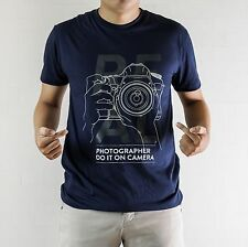 Real Photographer Do It On Camera Photo T-shirt Shirt Tee Geek Nikon Canon Gift