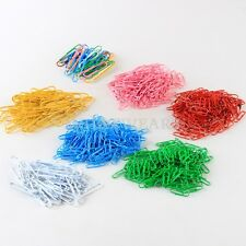 50x Multi-Color Paper Clips & Pins Vinyl Coated 50mm Office Stationery LJN