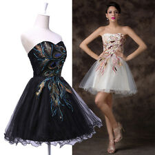 Store PROMOTION!NEW Peacock Masquerade Prom Dress Homecoming Party Evening Gown