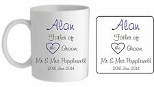 PERSONALISED WEDDING MUG/COASTER WITH NAME & DATE, IDEAL PRESENT/GIFT/THANKYOU