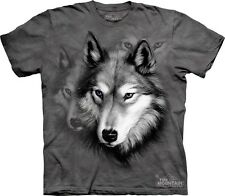 Wolf Portrait Kids T-Shirt from The Mountain. Wolves Boy Girl Child Sizes NEW